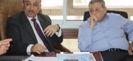الشكعة يلتقي وزير الأشغال مفيد الحساسنة